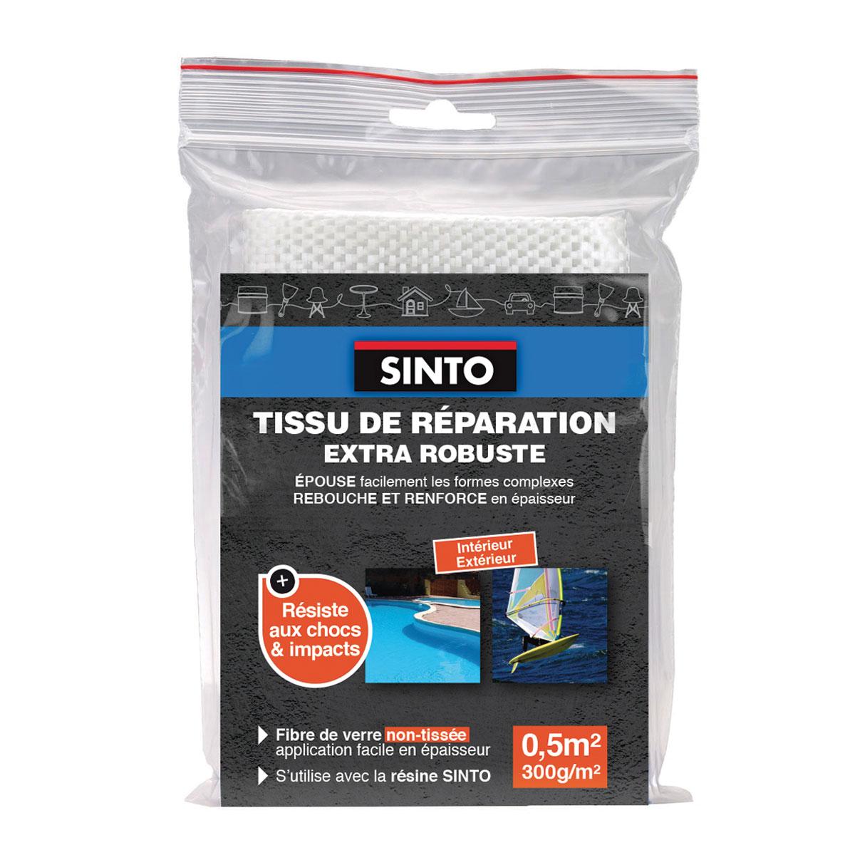 Tissu de r paration extra robuste en fibre de verre non tiss e sinto - Reparation fibre de verre ...