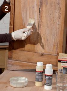 Réparer sa commode - étape 2 stopper le pourrissement du bois