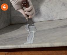 Réparer une console en marbre -SintoPierre