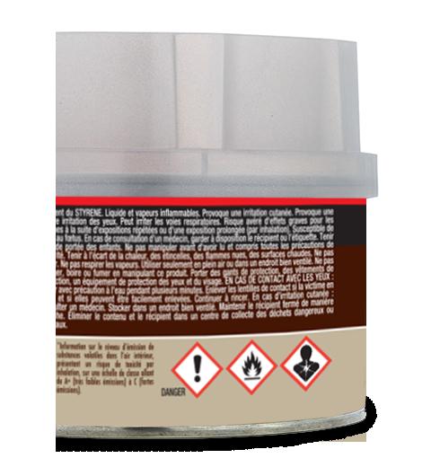 Exemple d'étiquette avec CLP